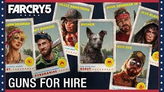 Far Cry 5 Is Available Now. See who joins the fight! Build the resistance and team up with Guns & Fangs for hire to take back Hope County. Far Cry 5 will be ...