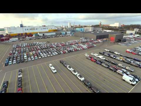 A day at the car terminal - Scandinavian Auto Logistics 1