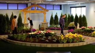 Mary's Garden Blooms Inside Roesch Library