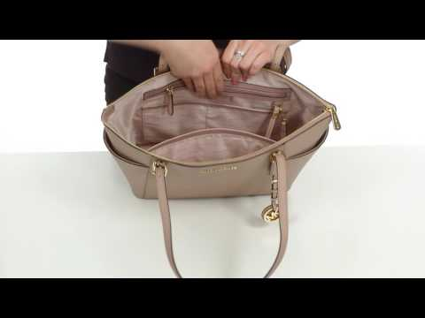 c81ca6bea2e66 MICHAEL Michael Kors Jet Set Item Large East West Top Zip Tote SKU 8902993  - YouTube