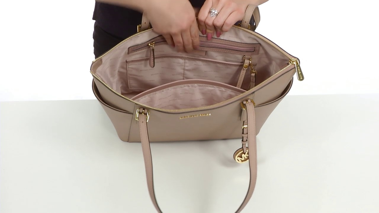 e4b5fbb3c90b MICHAEL Michael Kors Jet Set Item Large East/West Top Zip Tote SKU:8902993