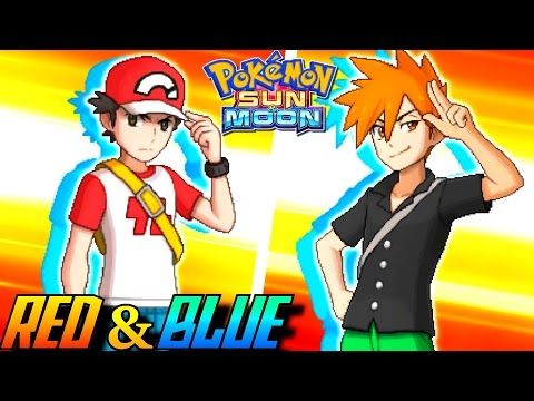 Pokémon Sun And Moon - Trainer Red & Blue Battle! (Full Team)