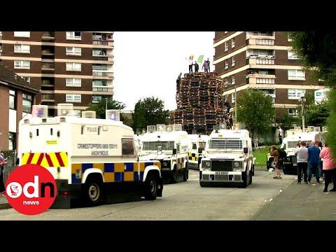 Belfast Bonfire Riot Forces Police To Retreat From Estate