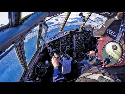 C-130 Hercules Landing at Diamond Mine!