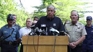 Missouri Gov. Mike Parson holds press conference at Table Rock Lake about Duck Boat accident