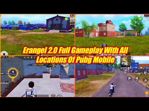Erangel 2.0 Full Gameplay With All Locations Of Pubg Mobile | Pubg Mobile Erangel 2.0 Gameplay