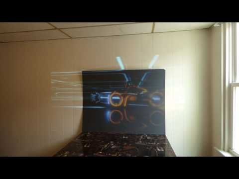 PLATINUM 4K CINEMA PROJECTION SCREENS WATCHING A MOVIE BY A WINDOW!