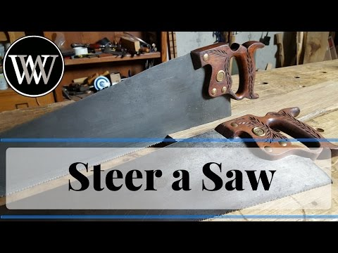 How to Steer or Guide a Hand Saw Hand tool Woodworking Technique