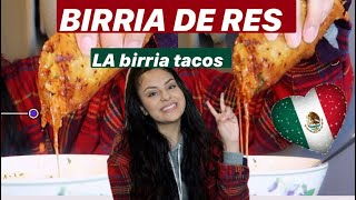 BIRRIA DE RES & juicy LA Birria TACOS (MOUTH WATERING WARNING ⚠️ )
