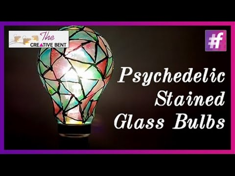 Psychedelic Stained Glass Bulbs The Creative Bent Waste Creativity Diy With Swati