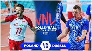 Poland vs. Russia | Semifinal | Highlights | Men's VNL 2019 (HD)