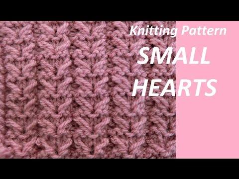 Knitting Pattern Small Hearts Youtube
