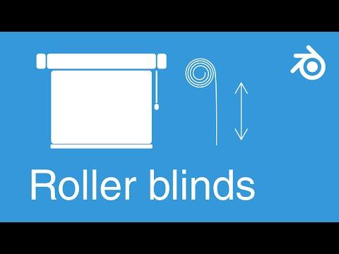 Blender quick tip - Animate window roller blinds