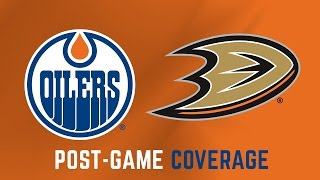 ARCHIVE   Post-Game Coverage - Oilers at Ducks - Game 1