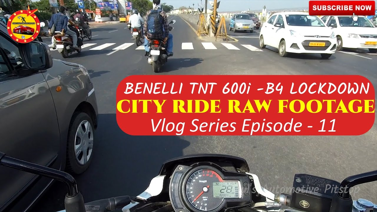 Raw Footage of Morning City Ride | Benelli Tnt 600i | Before Lock Down | Stock Exhaust