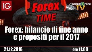 Forex Time: bilancio di fine anno e propositi per il 2017