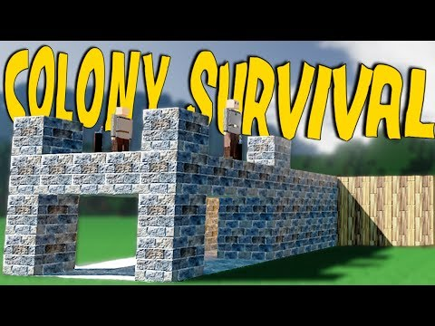 BUILDING A GUARD TOWER AND (LITERAL) TREEHOUSE SETTLEMENT - Colony Survival Gameplay Part 2