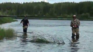 Рыбалка на Ижме 2014(Ловля язя на спиннинг на реке Ижме в Республике Коми., 2016-02-20T06:59:48.000Z)