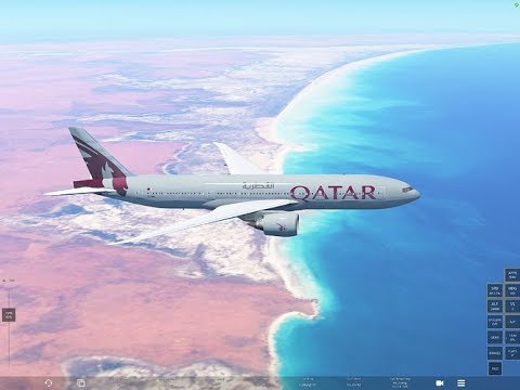 Infinite Flight GLOBAL Flight Auckland - Doha. 17:20 hours to go. EXPERT SERVER