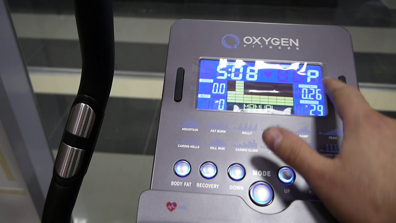 Велоэргометр Oxygen Cardio Concept IV от Остров Спорта - YouTube