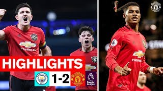 Rashford amp Martial seal Derby win for the Reds  Man City 1-2 Manchester United  Highlights