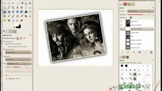 Старое фото в гимпе (видеоурок)