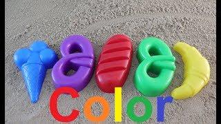 learn colors with kids fun games with sand molds/куличики из песка учим цвета