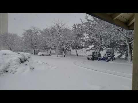 Snow At Misawa Air Base