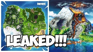 LEAKED SEASON 8 SKINS, VOLCANO, ET NEW MAP!!! (Fortnite Battle Royale)