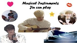 Musical Instruments BTS Jin can play (Ukelele, Harmonica, Guitar, Piano)