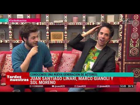 Juan Santiago Linari, Marco Gianoli y Sol Moreno en Tardes Nuestras