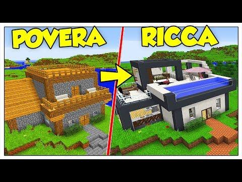 TRASFORMIAMO LA MIA CASA POVERA IN RICCA! - Minecraft ITA