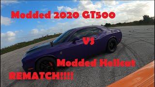 Modded GT500 vs Modded Hellcat The rematch!!!