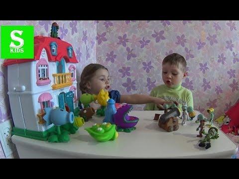 Vlog! Растения против Зомби игрушки и испытания  Игра Plants vs Zombies