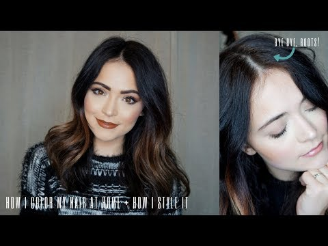 How I Dye My Hair At Home + How I Style My Hair