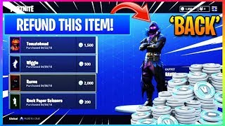 *ITS BACK* How To Use *NEW* REFUND System In FORTNITE! (Fortnite Battle Royale)