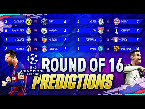 UCL ROUND OF 16 PREDICTIONS 😱| 🏆UEFA CHAMPIONS LEAGUE 2019/2020 | Liverpool vs Atletico HIGHLIGTHS