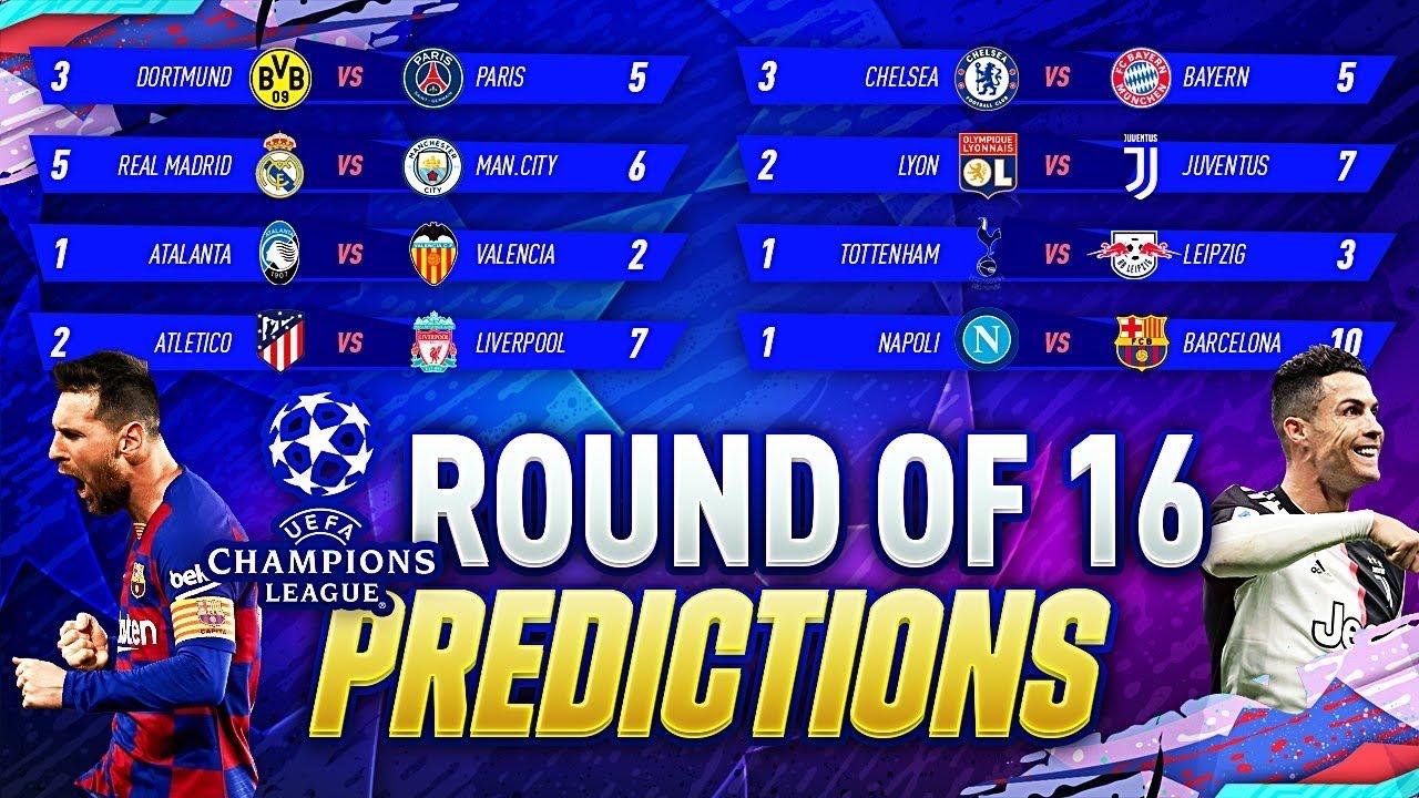 Champions League score predictions: Round of 16
