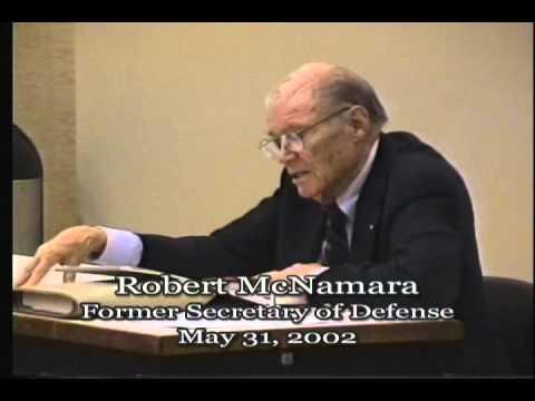 Robert McNamara - Former U.S. Secretary of Defense - May 31, 2002