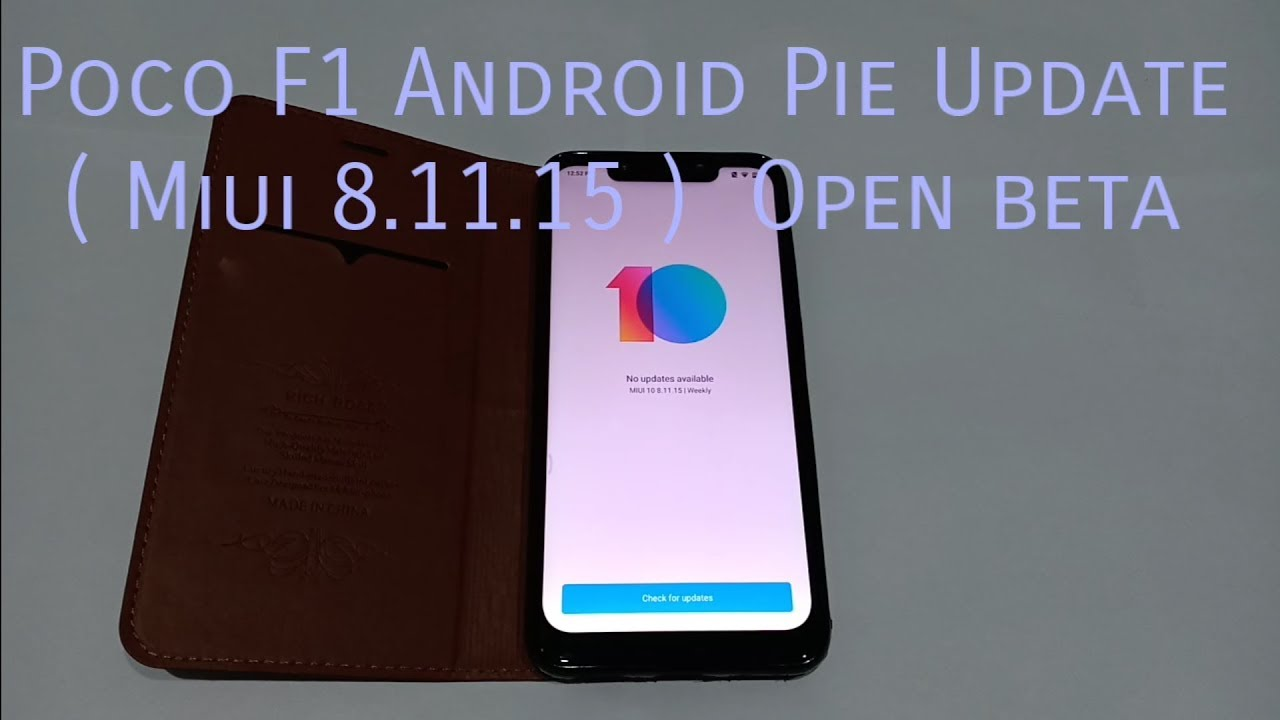 Poco f1 pie update ( Miui 8 11 15 ) by Creater's Hub