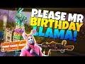 PLEASE MR BIRTHDAY LLAMA!!! | Fortnite Save The World