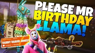 PLEASE MR BIRTHDAY LLAMA!!! | Fortnite Save The World