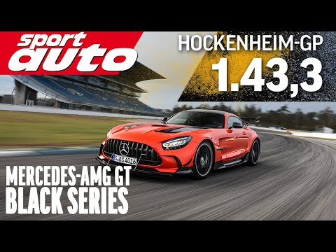 AMG GT Black Series faster than Porsche GT2 RS MR & Ferrari Pista | HOT LAP Hockenheim-GP sport auto
