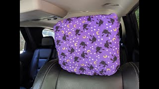 DIY Car Headrest Covers \\ With a Witchy Twist
