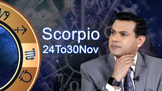 Scorpio weekly horoscope 24 November To 3o November