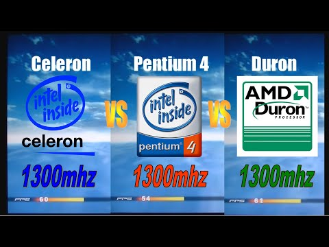 Retrocomputing, Celeron 1,3ghz Vs Pentium 4 1,3ghz Vs Duron 1,3ghz