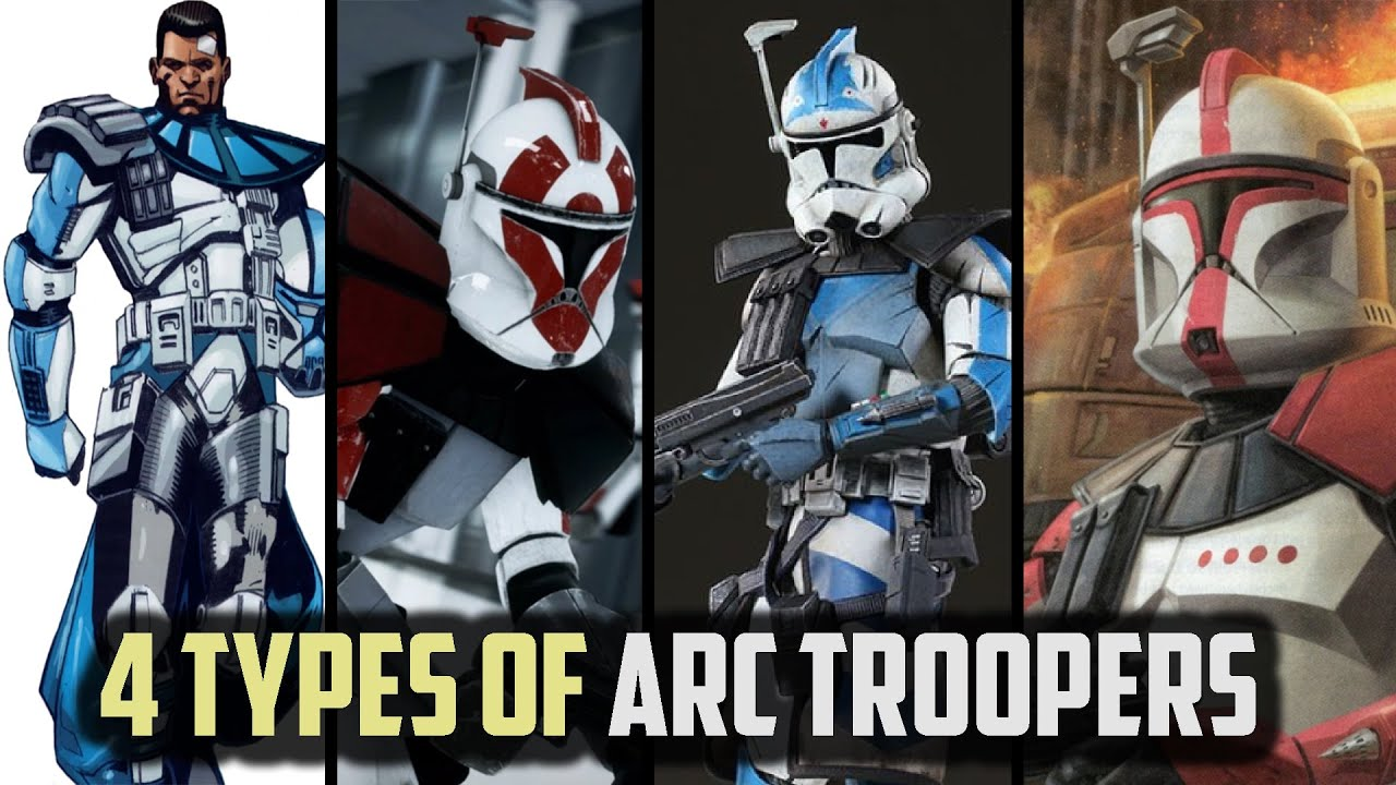 The Four Different Classes of ARC TROOPERS