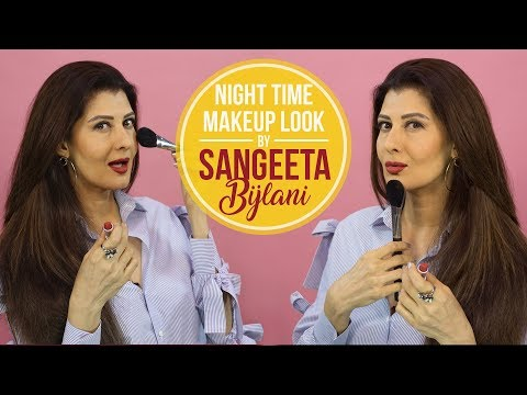 GRWM: Sangeeta Bijlani's night time makeup...