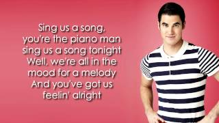 Glee - Piano Man (Lyrics)