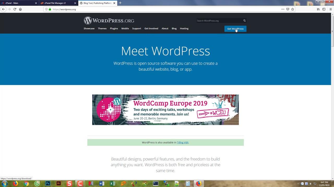 Hướng Dẫn Cài WordPress Trên Hosting Cpanel